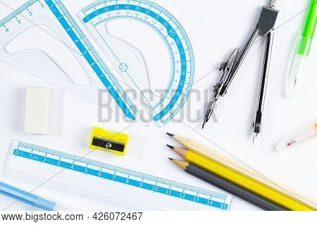 Pattern Drawing Supplies For Study Or Work At School And At Home
