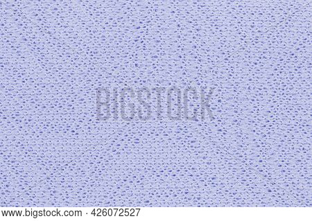 Texture Of Blue Knitted Fabric As Background Or Backdrop. Top View, Flat Lay, Place For Text, Copy S