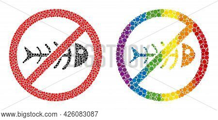 Stop Toxic Waste Mosaic Icon Of Circle Elements In Different Sizes And Rainbow Multicolored Color Hu