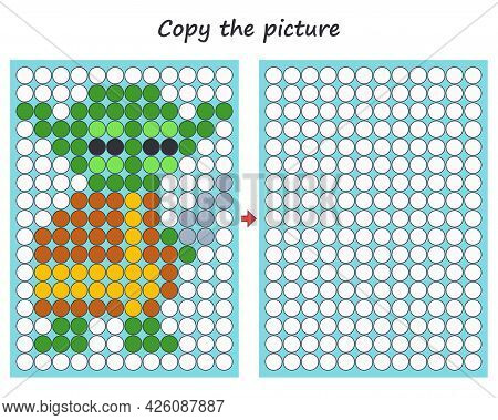 Education Activity Logic Game For Preschool Kids. Copy The Picture. Learning Symmetry For Preschool