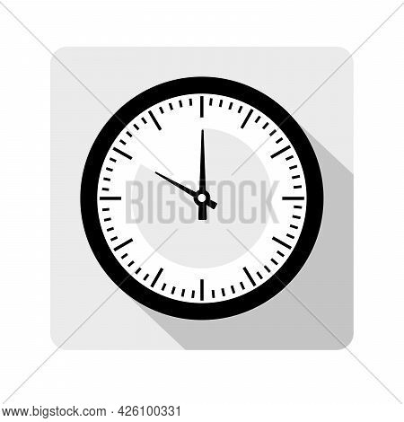 Single Clock With The Timer In The Style Of Icon