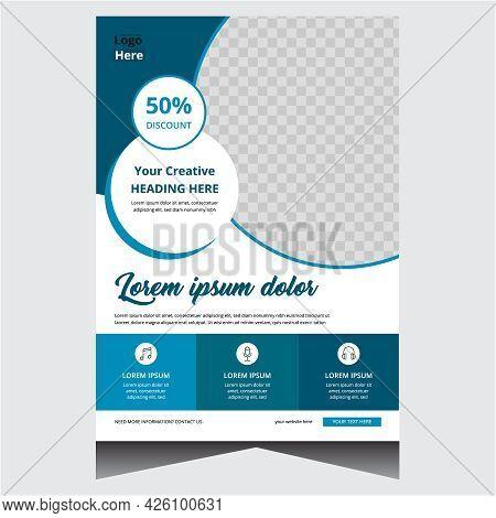Blue Simple Creative Modern Business Flyer Design Template