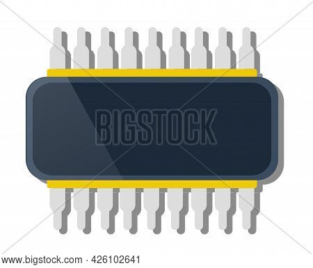 Single Chip Device Of Technology Electronic Microchip Microcircuit