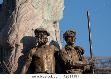 Sculpture In Portugalete, Bizkaia, Basque Country, Spain