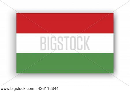 Hungary Flag, Great Design For Any Purposes. Travel Concept. Vector Illustration. Stock Image.