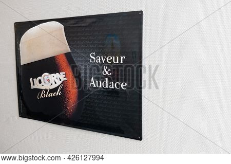 Bordeaux , Aquitaine France  - 07 04 2021 : Licorne Black Dark Lager Beer Text Brand And Logo Sign O