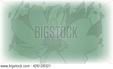 Green Abstract Manipulated Leaf Line Vector Work On Background
