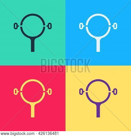 Pop Art Filter Wrench Icon Isolated On Color Background. The Key For Tightening The Bulb Filter Trun