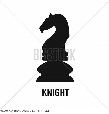 Black Chess Knight Horse Silhouette Logo Design