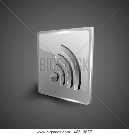 Glossy 3D web 2.0 rss feed symbol icon set. EPS 10
