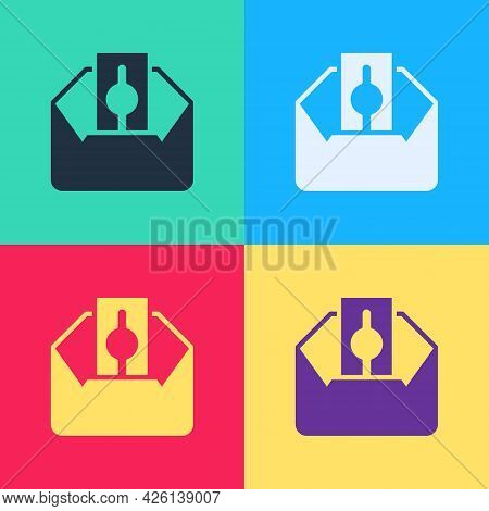 Pop Art Donate Or Pay Your Zakat As Muslim Obligatory Icon Isolated On Color Background. Muslim Char