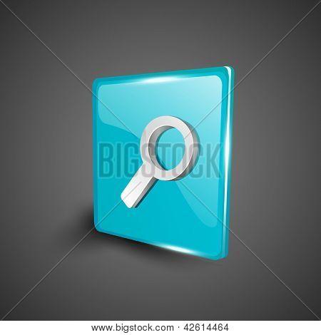 Glossy 3D web 2.0 search symbol icon set. EPS 10