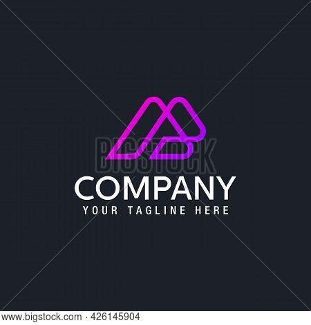 Minimalist Alphabet Letters A Creative Line Alphabet Symbol Logo