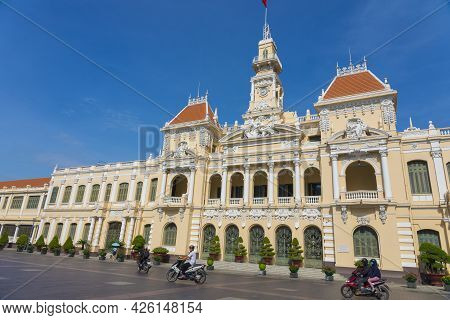 Ho Chi Minh, Vietnam - Oct 17, 2019 : The People's Committee Of Ho Chi Minh City With Blue Sky In Ho