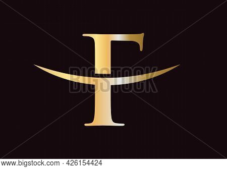F Logo Design. Initial F Letter Logo Design Vector Template