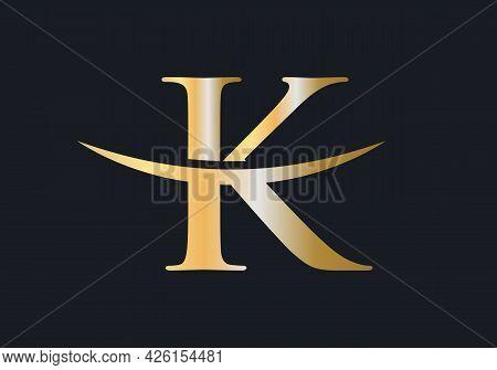 Initial Monogram Letter K Logo Design Vector. K Logo Design Vector Template