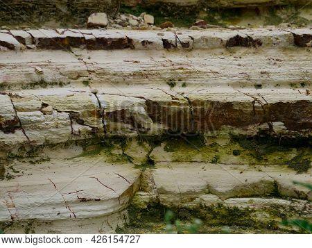 White Marble Stone Mountain Texture Straight Shot.