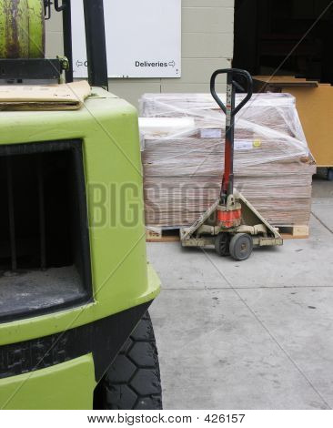 Forlift And Crate