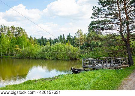 Taiga Zaimka In Forest At Summer Time, Siberia, Russia