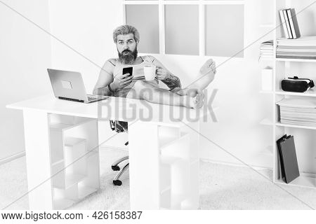 Too Lazy To Work. Comfortable Workplace. Social Networks. Social Distancing. Always Wanted To Work F