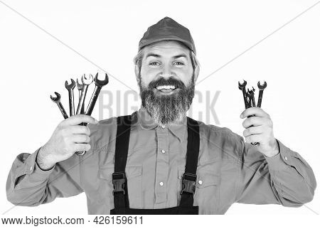 Replacement Parts. Man Hold Wrench Tools. Wrench Tool. Automotive Service Technicians And Mechanics.