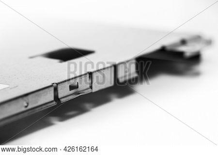 Close up shot of LCD screen metal bracket