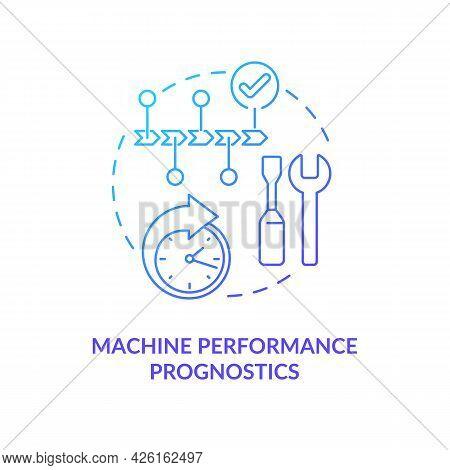 Machine Performance Prognostics Concept Icon. Digital Twin Tasks Vaariety. Innovative Automation Sys