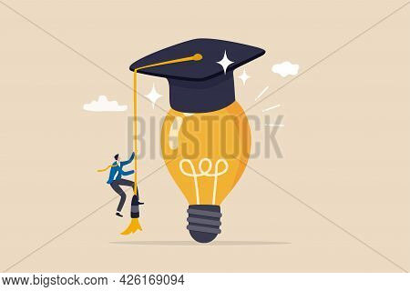 Education Or Academic Help Create Business Idea, Skill And Knowledge Empower Creativity Concept, Sma