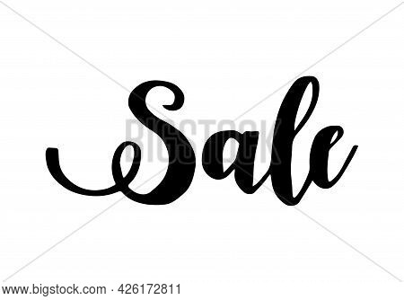 Sale Letter. Calligraphy For Poster, Background, Postcard, Banner, Window. Print On Cup Bag Shirt Pa
