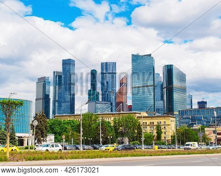 Moscow, Russia - May 24, 2021: View Of The Moscow International Business Center