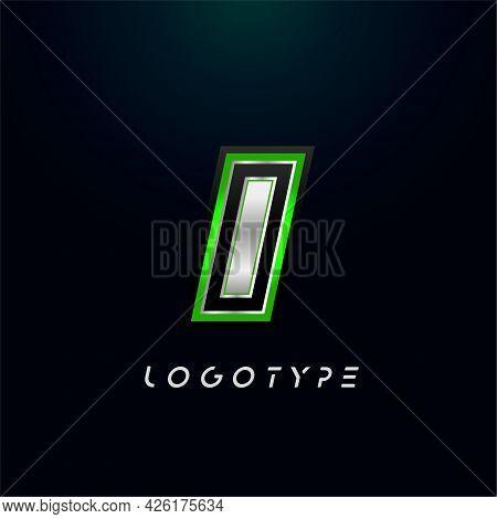 Letter I For Video Game Logo And Super Hero Monogram. Sport Gaming Emblem, Bold Futuristic Letter Wi