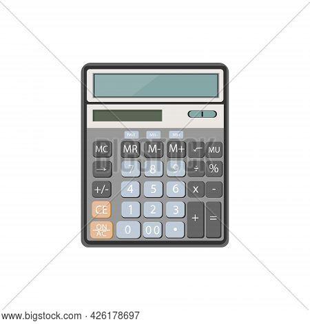Calculator For Math Operation, Budget, Analytics,data,finance. Vector Illustration. Finance,calculat