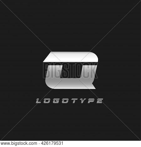 Blade Silver Letter Q, Bold Italic Cropped Monogram. Aluminium Iron Metallic Vector Emblem For Auto