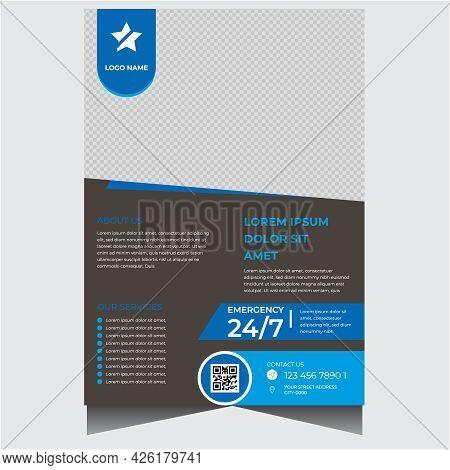 Creative Dark Modern Medical Flyer Design Template