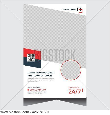 Concise Promotional Medical Poster Design Vector Template