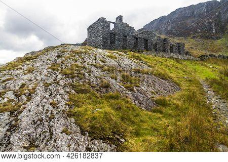 Cwmorthin Terrace, Slate Miners Barracks, Also Called Tai Llyn, Bleneau Ffestiniog, Snowdonia, North