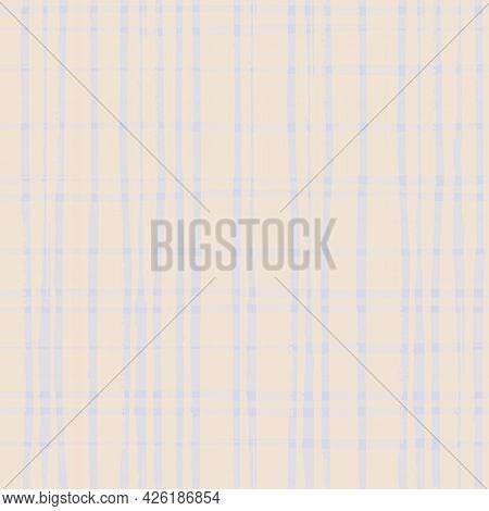 Neutral Pastel Burlap Canvas Texture Background. Vector Seamless Patter With Painterlyl Watercolor E
