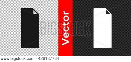 Black Grip Tape On A Skateboard Icon Isolated On Transparent Background. Vector