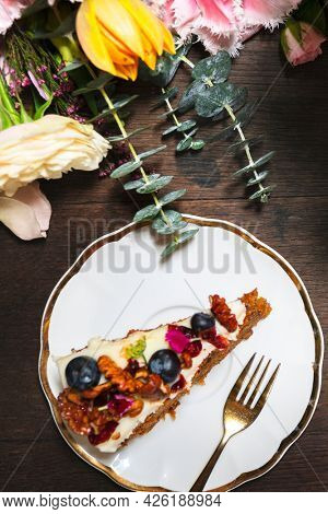 Healthy fruity and nutty cake