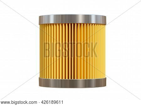 Car Fuel Filter Isolated On White Background. 3d Rendering