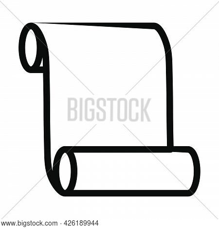 Canvas Scroll Icon. Bold Outline Design With Editable Stroke Width. Vector Illustration.