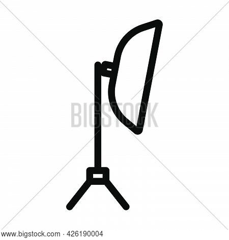 Icon Of Softbox Light. Bold Outline Design With Editable Stroke Width. Vector Illustration.