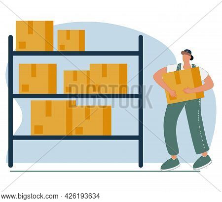 Inventory Management With Goods Demand And Stock Supply Planning Tiny Persons Concept. Distribution