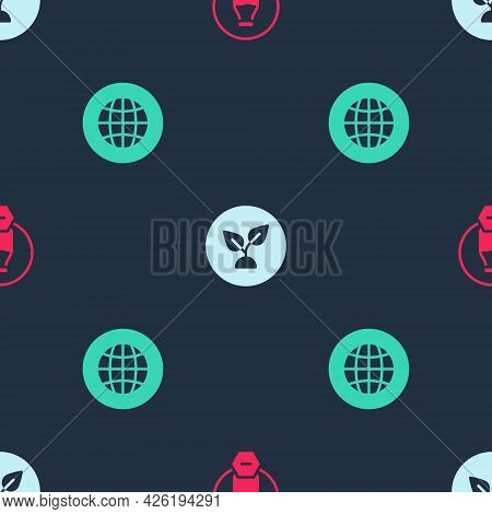 Set Lactose Free, Plant Based And Social Network On Seamless Pattern. Vector
