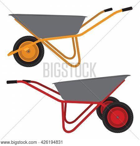 Wheelbarrow. Cart. Construction Tool. Cleaning Tool. Tool.