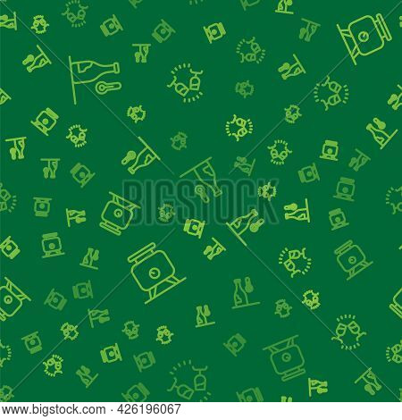Set Line Wine Temperature, Fermentation Of Grapes And Tasting, Degustation On Seamless Pattern. Vect