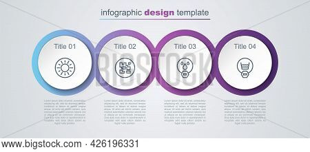 Set Line Sun, Qr Code, Water Drop Forbidden And Delicate Wash. Business Infographic Template. Vector