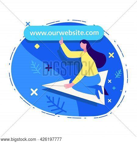 Visit Our Website Illustration Concept Vector Design