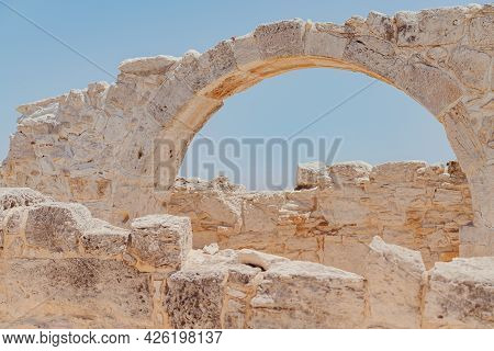 The Ancient Arc Ruins Of Early Christian Basilica At The Kourion World Heritage Archaeological Site