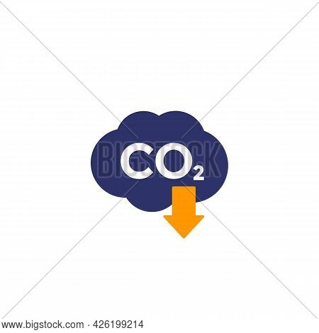 Co2 Gas, Carbon Emission Reduction Vector Icon